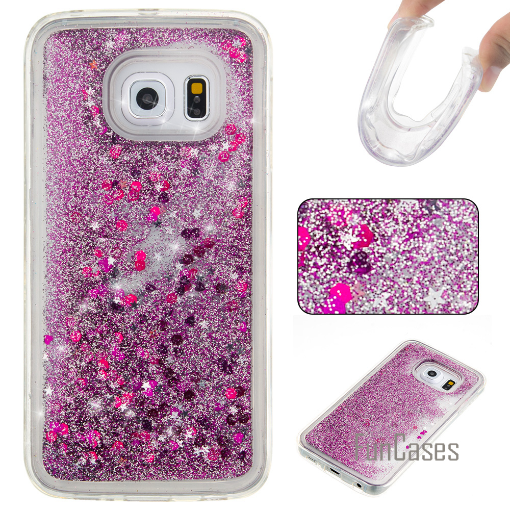 Liquid Glitter Quicksand Case for coque Samsung S6 S7 Edge Case 5.1 inch for fundas Samsung Galaxy S6 S7 Case Quicksand Cover