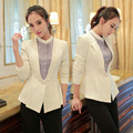Novelty White Slim Fashion Long Sleeve Autumn Winter Jackets Blazer Coat Professional Business Women Office Ladies Blazers Tops