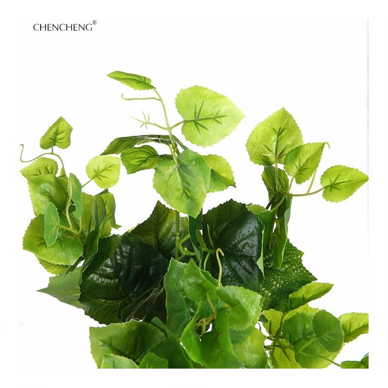 CHENCHENG Artificial Plants Garden Grape Green Leaf Foliage plants ...