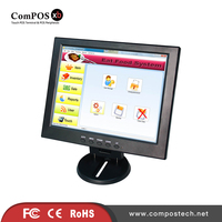 Manufacture direct sale LED display 1024*768 resolution 12 inch touch monitor computer screen