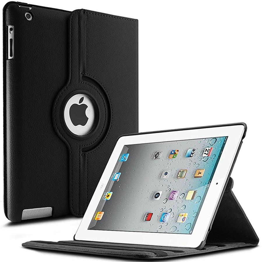 360 Rotating PU Leather Case For Apple iPad 2 iPad 3 iPad 4 magnet smart protective