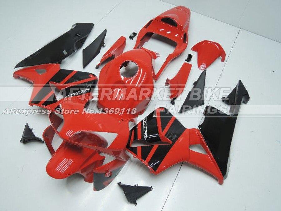 Красный черный Легко Установка натуральная ABS Пластик CBR600RR 03 04 обтекатель Средства ухода за кожей Работа для Honda красный черный