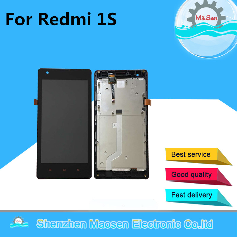 Original M&Sen For Xiaomi Redmi 1S Hongmi 1S 3G/4G version LCD screen display+touch panel digitizer with frame free shipping