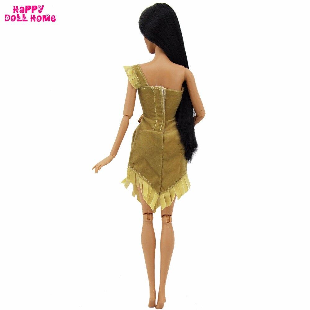 1x платье принцессы копия Покахонтас наряд индийский сказка Костюм на свадьбу и праздник для Барби FR Kurhn Кукла Одежда Интимные аксессуары 91