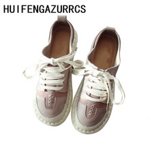 HUIFENGAZURRCS-Japanese Literary Comfort Womens Shoes,New Korean Version Mori Handmade Genuine Leather Retro Shoes