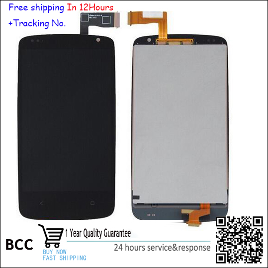 100% Original LCD display screen & touch screen digitizer Black For HTC desire 500 free shipping