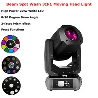 Dj Pro 200W LED Lyre Moving Head Light Beam Spot Wash LED Light Party Light Dj Stage Lighting Effect Night Club Dj Laser Light