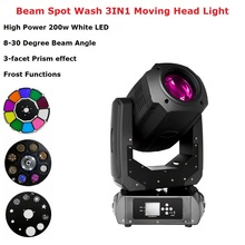 Dj Pro 200W LED Lyre Moving Head Light Beam Spot Wash LED Light Party Light Dj Stage Lighting Effect Night Club Dj Laser Light chauvet dj intimidator spot 355z irc