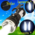 NEW 2-in-1 LED Flashlight and LED lantern 25 LED Camping lamp Large flashlight with EU / US Charging line plug searchlight