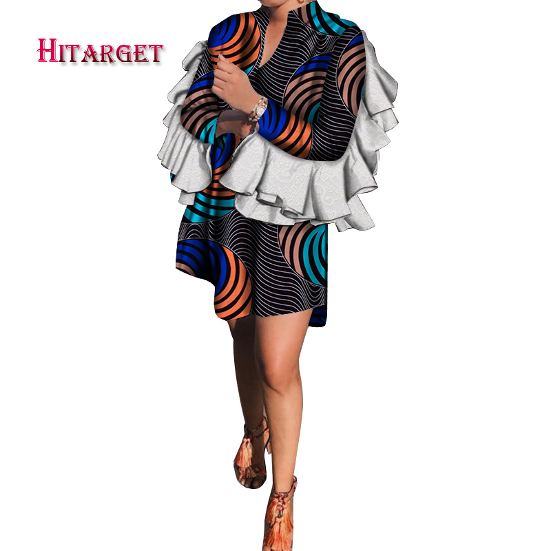 2019 dashiki african dresses for women dress for beautiful elegant ladies african print dress ankara wax dress plus size WY4832 in Africa Clothing from Novelty Special Use