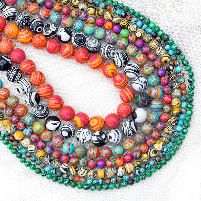 """High Quality Malachite Stone Beads Loose Spacer Bead For Jewelry Making 4/6/8/10/12/14mm 15"""" DIY Bracelet&Necklace"""