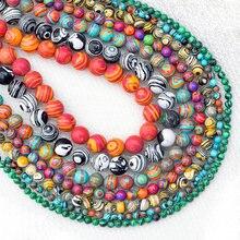 Grânulos de pedra malaquita de alta qualidade solta espaçador grânulo para fazer jóias 4/6/8/10/12/14mm 15 diy bracelet diy pulseira & colar