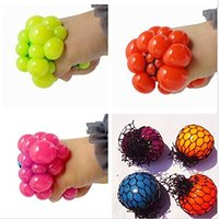 4pcs Lot Cute Anti Stress Face Reliever Grape Ball Autism Mood Squeeze Relief Healthy Toy Funny