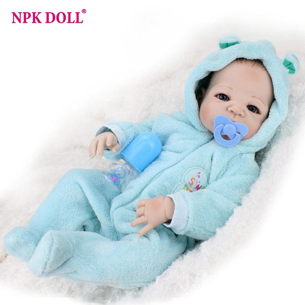 Npkdoll 55cm Full Body Silicone Bebe Doll 22 Inch