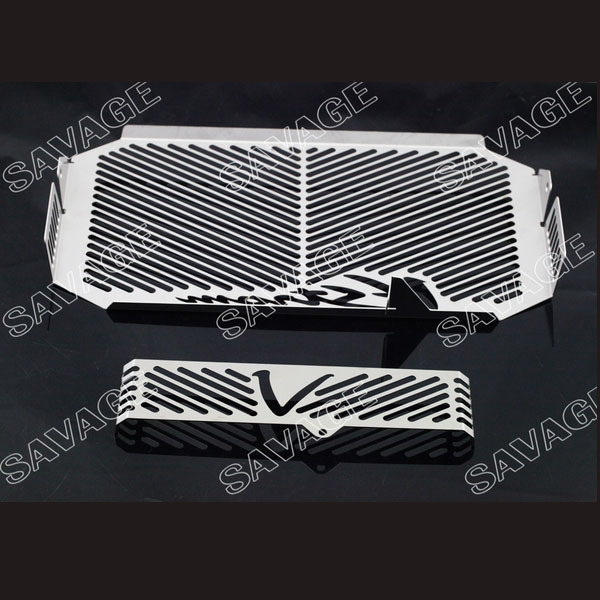Motorcycle Radiator Grille Guard Cover Protector & Oil Cooler Protector For DL650 V-Strom 2004-2010