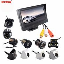 """2в1 автомобильная система парковки Комплект 4,"""" TFT lcd цветной монитор HD экран дисплея+ камера заднего вида водонепроницаемый резервный"""