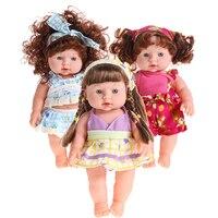 Младенец Reborn Baby Doll Мягкие винилсиликоновых реалистичные Мода для новорожденных говорящая кукла игрушки детские развивающие подарки для де...