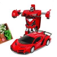 Transformar Recarregável RC Carros de Controle De Rádio Brinquedos de Controle Do Carro Elétrico Crianças Presentes