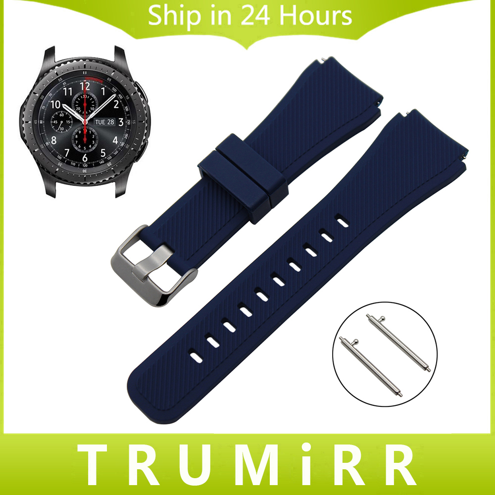 Quick Release Silicone Rubber Watch Band 22mm for Samsung Gear S3 Classic Frontier Garmin Fenix Chronos Wrist Strap Bracelet чайник vitek vt 1112 gy