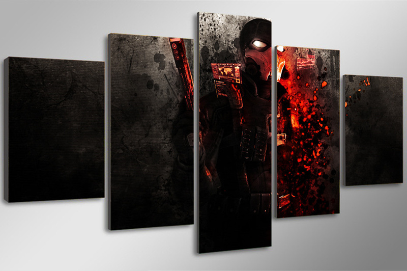 5Peice Wall Painting Movie Poster Game Character Wall Art Canvas Painting Printed Picture For Living Room Prints Decor Frameless