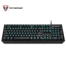 Motospeed CK95 Gaming Mechanical Keyboard 104 keys Russian English Red/Blue Switch Tablet LED Backlit RGB For gamer PK CK104 motospeed ck104 pc mechanical keyboard blue switch rgb led backlit wired usb gaming russian keyboard sticker wrist rest pad