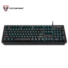 Motospeed CK95 Gaming Mekanis Keyboard 104 Kunci Rusia Bahasa Inggris Merah/Biru Tablet Switch LED Backlit RGB untuk Gamer PK CK104(China)
