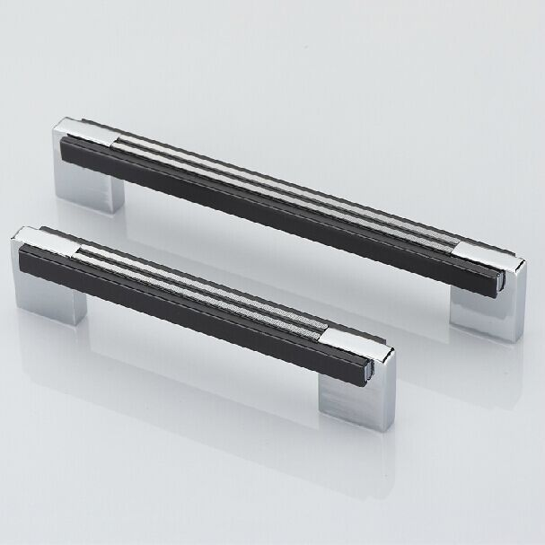 "Black Handles For Kitchen Cabinets: Aliexpress.com : Buy 5"" Black Kitchen Cabinet Handle Chrome Dresser Cupboard Pull Shiny Silver"
