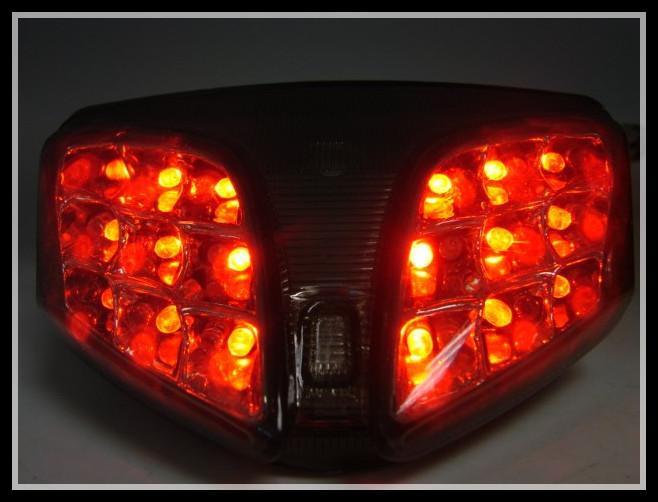 SMOKE INTEGRATED LED TAIL <font><b>LIGHT</b></font> W/TURN SIGNAL FOR 2008 2009 2010 <font><b>GSXR</b></font> <font><b>600</b></font> 750 image