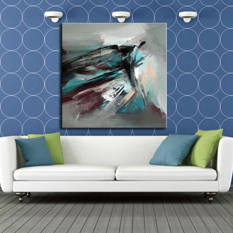 100 hand painted modern simple color abstract painting on canvas wall art for decoration sale online no frame