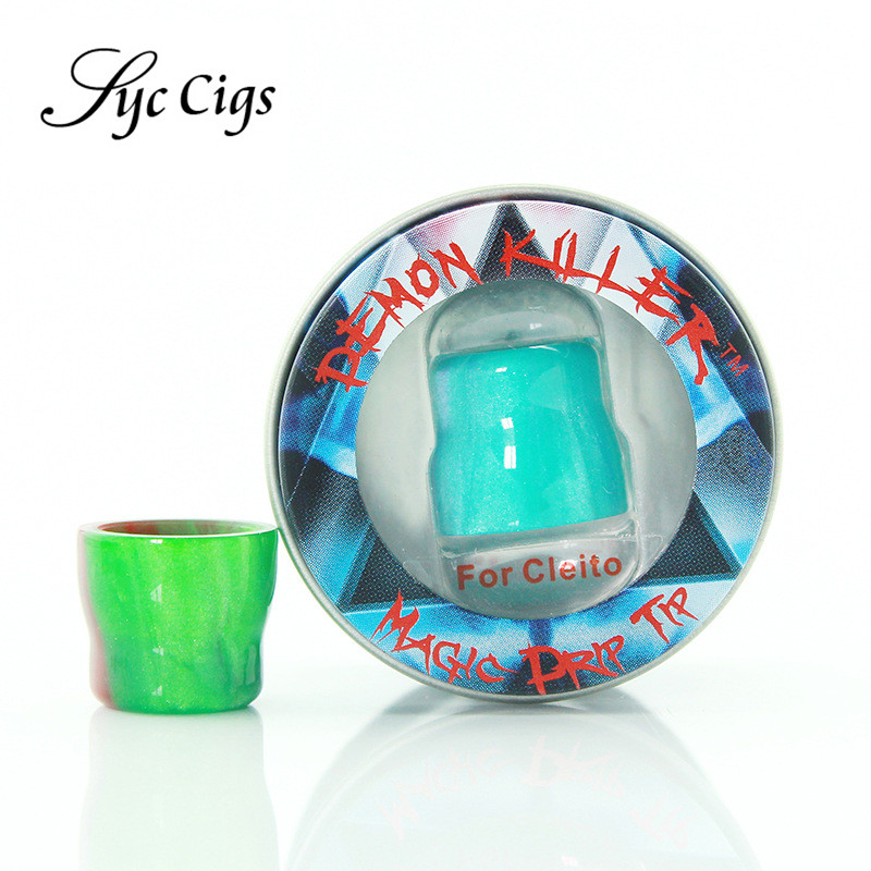 5pcs/lot Original Electronic Cigarettes Magic Cleito Drip Tip Demon Killer Resin Drip Tips Compatible with Aspire Cleito Tank