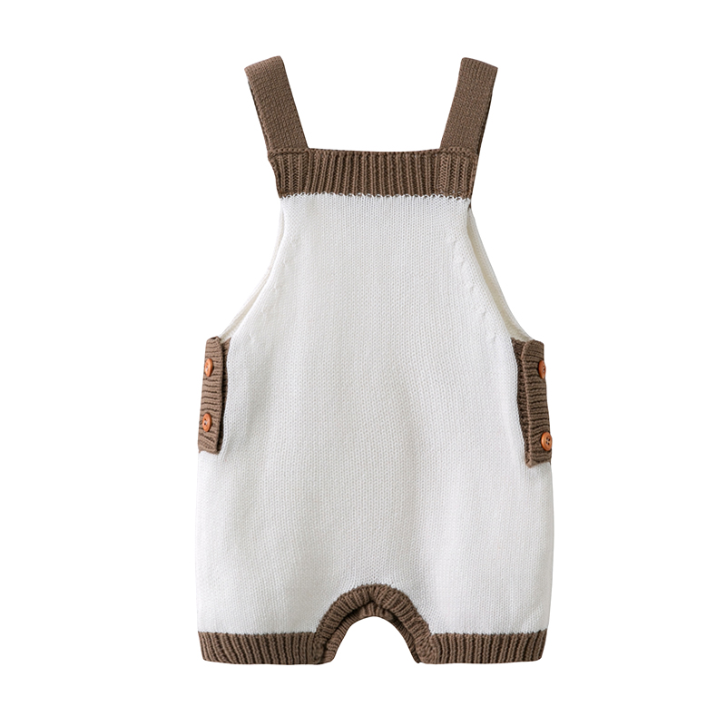 778ed5ba822a Infant Baby Boys Girls Soft Knit Romper Button Overalls