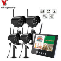 YobangSecurity 9 inch Digital Wireless Camera Audio Video Baby Monitors 4CH CCTV DVR Security System With IR Night Light Camera
