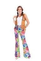 Ladies Mens 60s 70s Retro Hippie Go Go Girl Disco Costume Fancy Dress Hen Xmas Party Couple Costumes M, XL