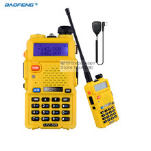 BaoFeng UV-5R Walkie Talkie Hf transceiver 5W 128CH UHF VHF Radio Two Way RadioAccessories With 1X NKTECH Remote Speaker Mic