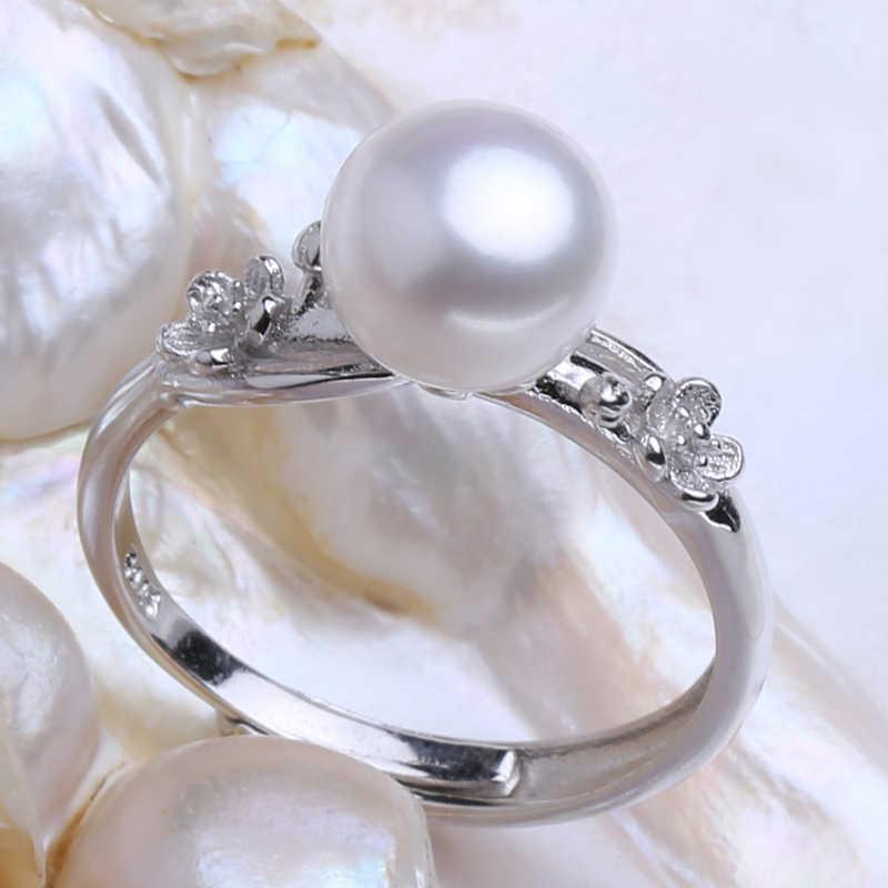 FENASY פרל תכשיטי חתונת אירוסין תכשיטי סטי פנינה טבעית תליון שרשרת נשים ארוך עגילי מסיבת פרח עגילים