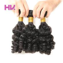 Hair Villa Remy Fummi Curly Human Hair Bundles 3pcs Brazilian Hair Weft 8-30 Inches For Salon Low Ratio Longest Hair PCT 15%