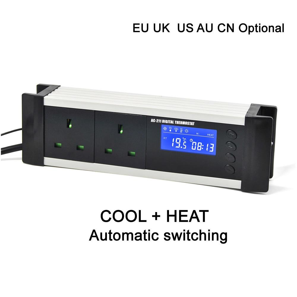 Hearty Dual Relay Output Eu Uk Au Cn Plug Greenhouse Aquarium Digital Thermostat Controller For Refrigeration And Heating