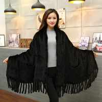 Free shipping autumn and winter authentic real knit mink fur scarf female shawl women's natural mink fur shawl new fashion
