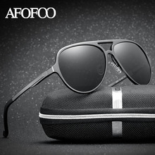 AFOFOO Aluminium Magnesium Polarized Sunglasses Brand Designer Men Driving Sun glasses Women UV400 Shades Driver Goggle Eyewear