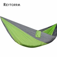 Single Double Hammock Adult Outdoor Backpacking Travel Survival Hunting Sleeping Bed Portable With 2 Straps 2
