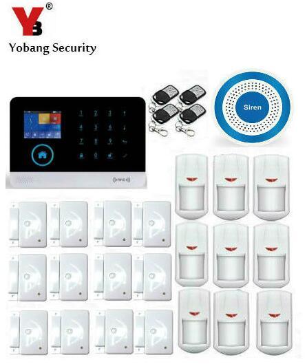 YoBang sécurité espagnol russe allemand commande de Menu vocal WIFI 3G système d'alarme à domicile Suite Android IOS APP contrôle 514mz.