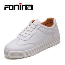 FONIRRA 2017 Spring Autumn New Women Shoes  White Lace Up Casual Shoes Fashion Outdoor Shoes Preppy  Comfortable Flat Shoes 052