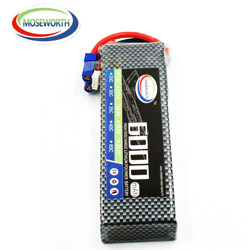 MOSEWORTH 2S RC Lipo battery 7.4v 6000mAh 35C For rc helicopter drone car boat quadcopter Li-Polymer 2S batteria AKKU 1s 2s 3s 4s 5s 6s 7s 8s lipo battery balance connector for rc model battery esc
