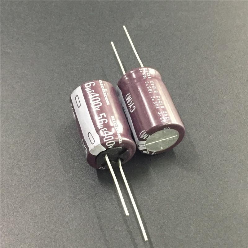 2шт 56 мкФ 400V NICHICON CY серия 16х25 мм Высокая пульсация тока длительный срок службы 400V56uF алюминиевый электролитический конденсатор|Конденсаторы|   | АлиЭкспресс