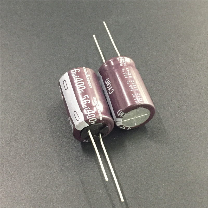 2pcs 56uF 400V NICHICON CY Series 16x25mm High Ripple Current Long Life 400V56uF Aluminum Electrolytic Capacitor