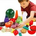 20 pcs Cozinha Crianças Brinquedos Divertidos De Corte De Madeira Frutas e Legumes Magnéticos Educacional Pretend Play Brinquedos De Madeira Conjuntos