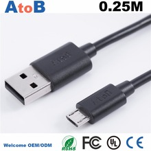 2017 Micro usb Cable for Samsung galaxy S7 HTC MEIZU SONY Android 02 0 25M Fast