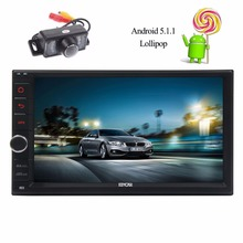 Double 2 Din Car Stereo Android 5.1.1 GPS Multimedia In Dash Quad Core Car Radio Navigation Support Bluetooth Wifi 1080P Camera