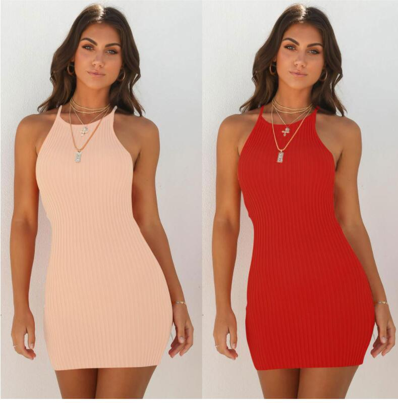 Maxi Dress Limited Zanzea Plus Size Women Free Shipping 2019 Europe And America Sexy Ribbed Sling Solid Color Sleeveless Dress
