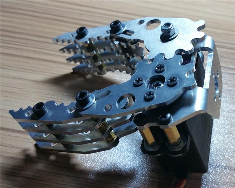 Aluminium Robot Clamp Gripper Mount kit for Robot Arduino Biped Walker 1pcs kb000850 diy plastic brass robot clamp gripper transparent blue multicolored s